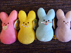 peeps(0.0), rabbit(0.0), pet(0.0), food(0.0), rabits and hares(0.0), textile(1.0), plush(1.0), stuffed toy(1.0), pink(1.0), toy(1.0),