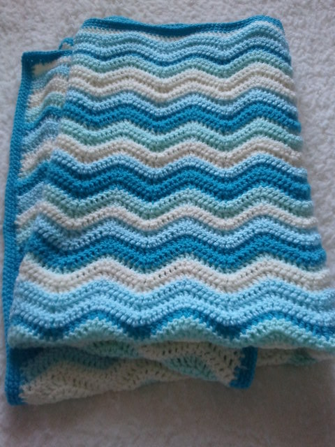 Crochet Ripple Blanket : RIPPLE CROCHET BABY BLANKET How To Crochet