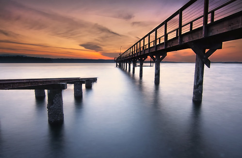 sunset sea beach water pier washington shore rails pugetsound boatlaunch hansville kitsappeninsula twinspits