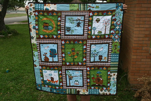 Back of Hooty Hoot quilt