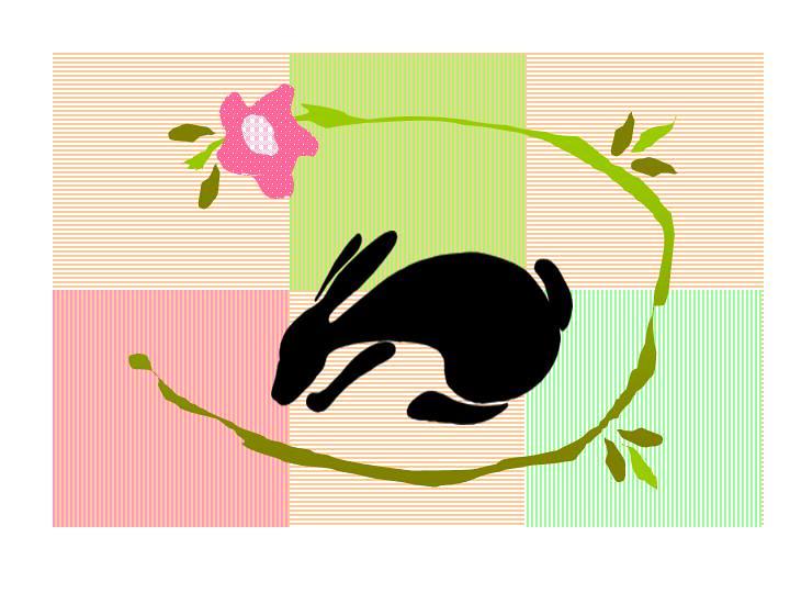 Rabbit Mug Rug Design