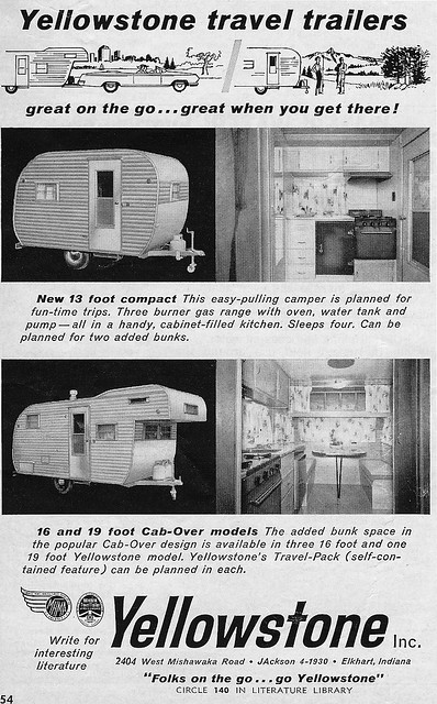 1962 Advertisement: Yellowstone travel trailers | Found in ...