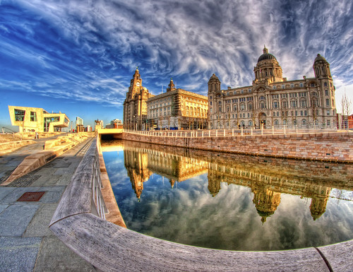 Pier Head,Liverpool ,(colour version)