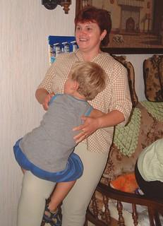 hugging auntie arlette