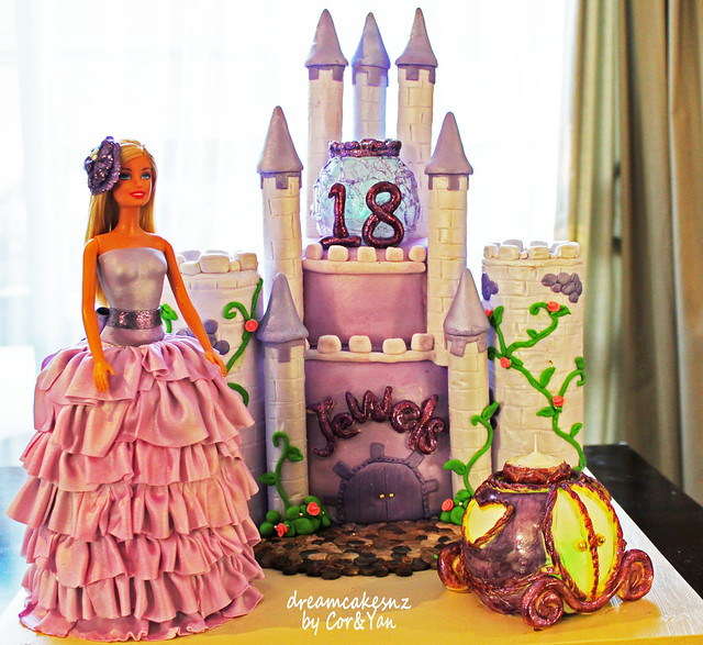 Barbie Castle Cake Images : Purple Cinderella Barbie and Castle cake Flickr - Photo ...