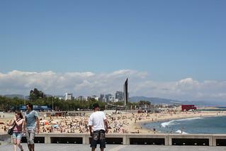 Image of Platja de la Nova Icària near GTD. barcelona beach playa plage barcelone
