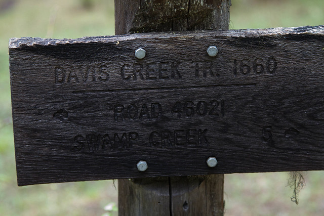 Davis Creek Trail Sign