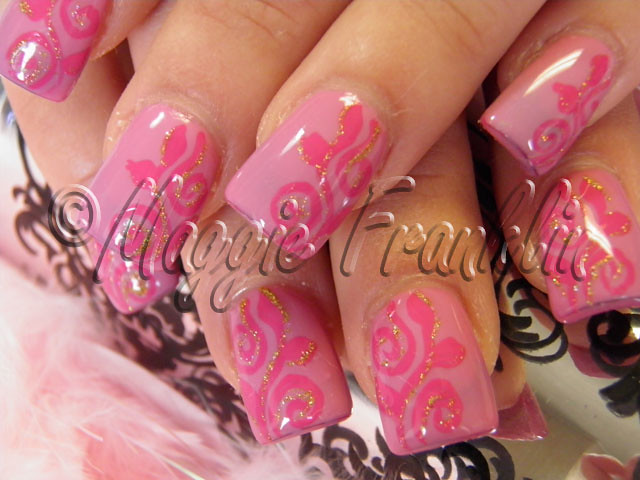 Gel polish with Nail Art | Flickr - Photo Sharing!