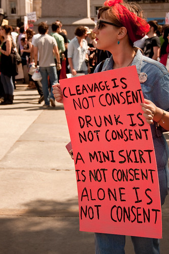 Some of the many things that are not consent. Not having clear, enthusiastic consent means you should probably err on the side of not raping someone. Photo courtesy Garry Knight via Flickr.