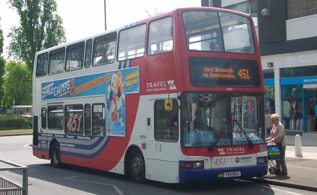 Travel West Midlands Volvo B7TL/Plaxton President 4054 (V54 MOA)