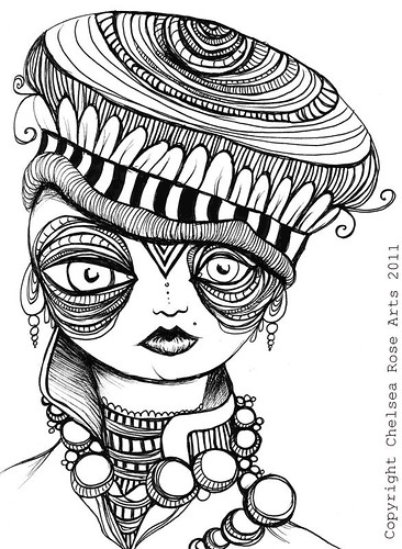 chelsea rose fine art  new pen and ink drawings