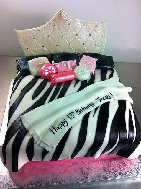 Zebra Print Bed Cake Flickr - Photo Sharing!