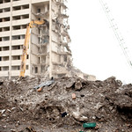 Demolition of the last of the Cabrini Green buildings