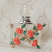 Tea Rose Vintage Jewelry Embellished Perfume Bottle