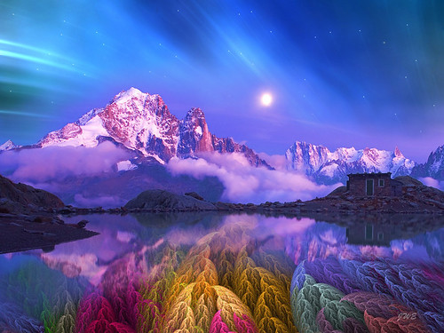 blue abstract mountains reflection colors night dream artdigital colorphotoaward ringofexcellence