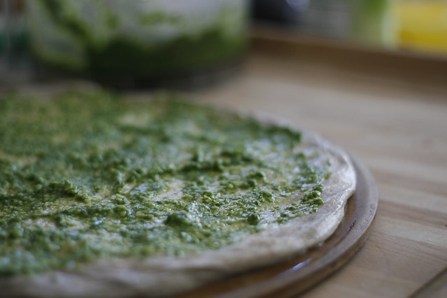 100:365, pesto pizza