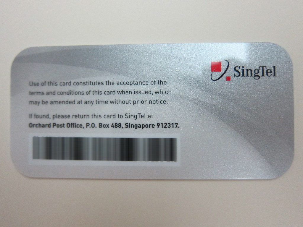 SingTel Red Prestige - Card Back