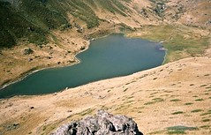 mountain, reservoir, loch, volcanic crater, lake, geology, terrain, crater lake, wilderness, aerial photography, coast,