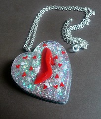 Ruby Slipper Huge Resin Heart