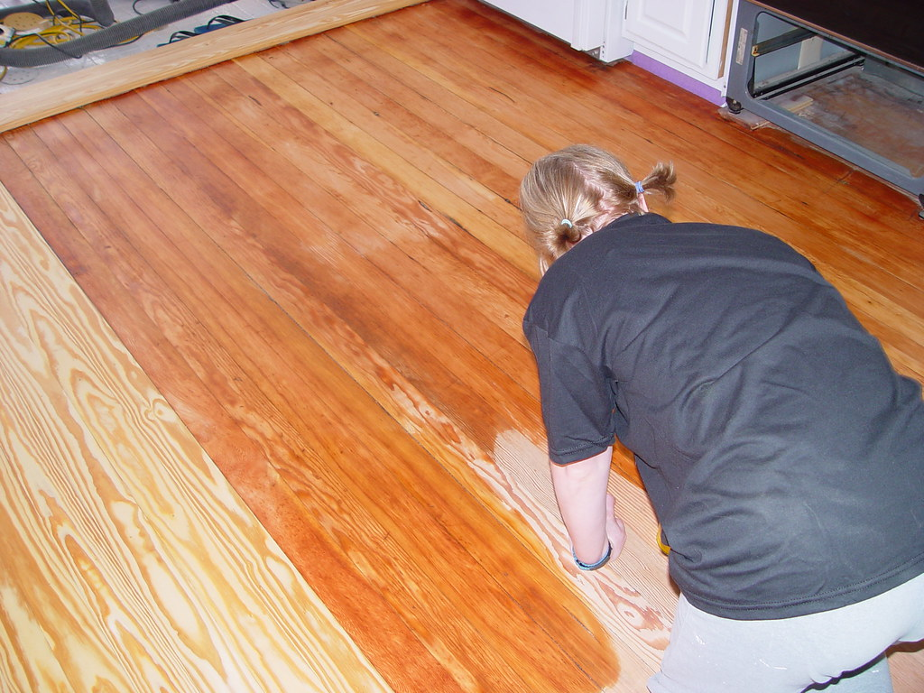 Brand-new Floor Refinishing, Matching Old and New - Our Kitchen Disaster  QS84