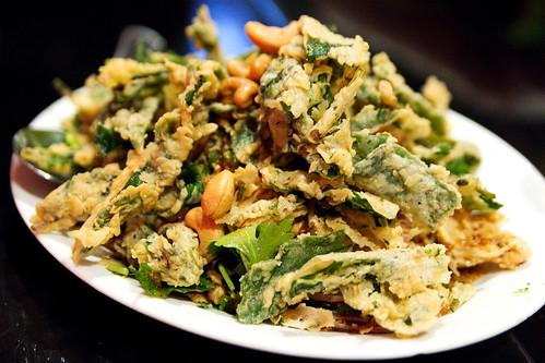 Crispy Chinese watercress salad