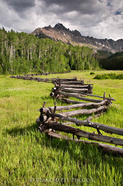 Zig zag fence mount sneffels co flickr photo sharing