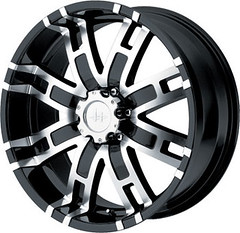Helo HE835 Wheels in Black Finish
