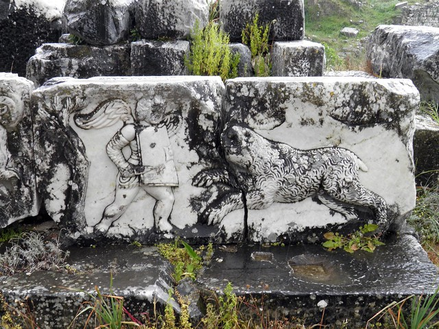 Relief representing Eros hunting, the stage building, The Greek Theatre, Miletus