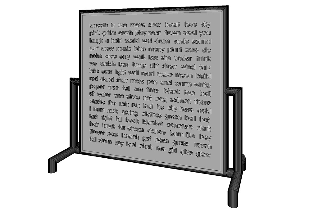 Word Wall - Current Words (Still In Progress, 3D Angled View)