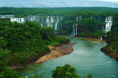 Iguassu Falls, the Iguazo river