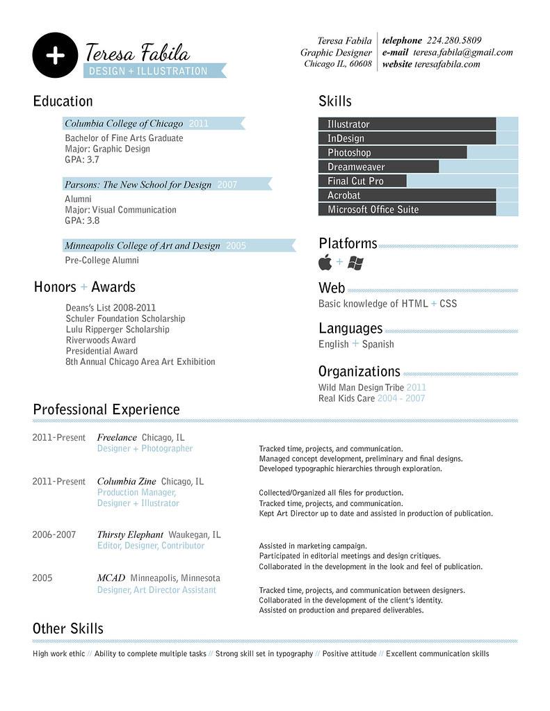 44 ejemplos de diseños de curriculum vitae | CosasSencillas.Com
