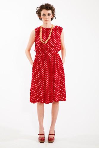 80s polka dot dress