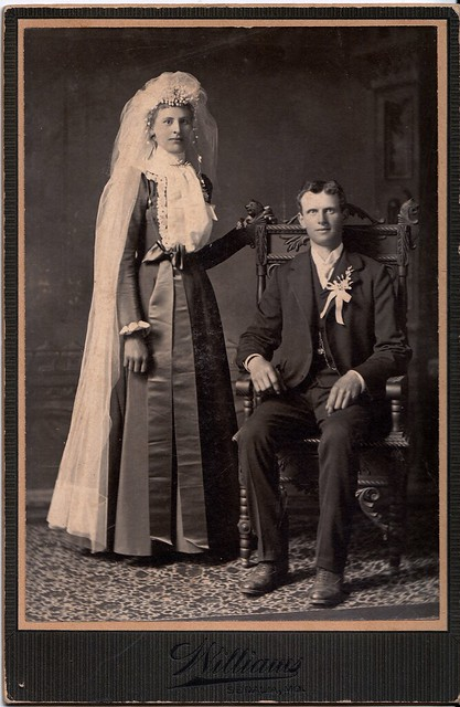 On the Wedding Day, Albumen Cabinet Card, Circa 1890