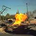 Fireball in Balboa Boulevard following the 1994 Northridge earthquake by cocoi_m