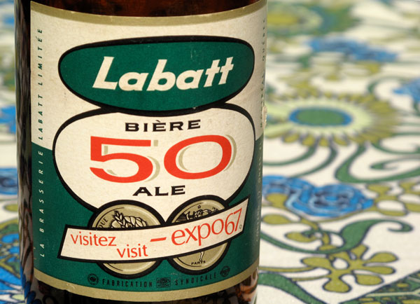 "Vintage Labatt 50 Bottle: ""Visit Expo 67"""
