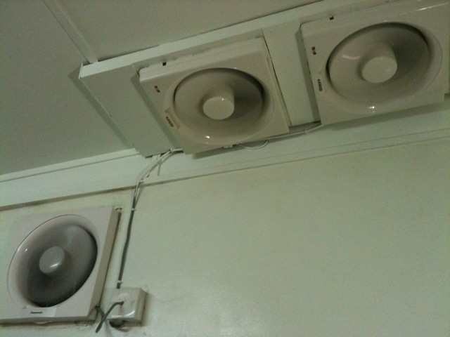 exhaust fans in the kitchen hahahaha