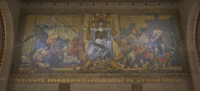 Buffalo city hall mural flickr photo sharing for Bufflon revetement mural