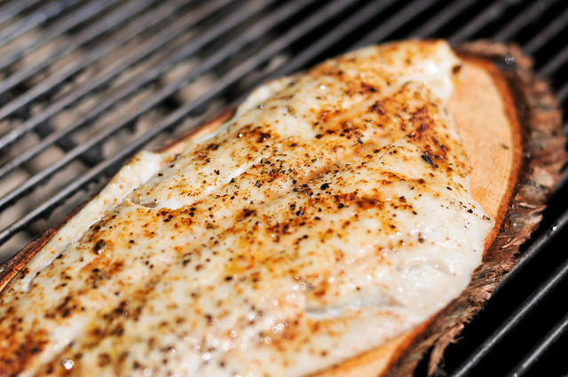 Planked Whitefish with Cilantro-Lime Butter