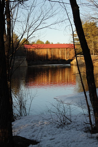 bridge sunlight reflection warm nh covered
