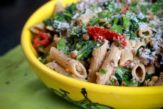 Lentil and Kale Pasta