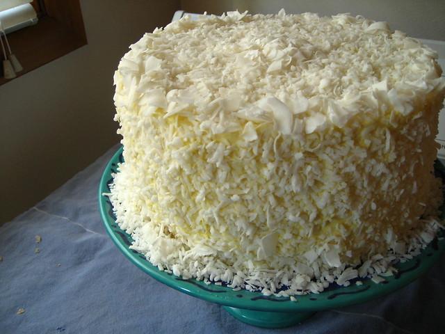 Coconut Meringue Buttercream Cake
