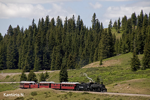 railroad usa tree nature rio train wagon grande colorado machine rail railway loco transportation stam cumbres toltec 488 kantiris καντηρησ