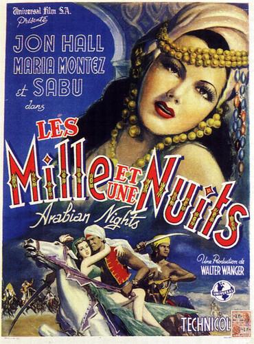 BELGIAN movie-poster- ''The Arabian Nights'' 1942