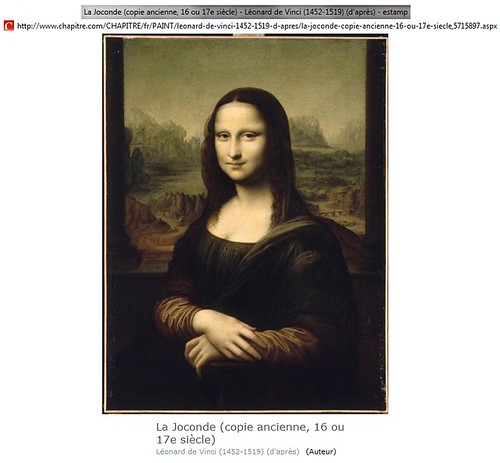 "Copy of ""Gioconda (Mona Lisa)"" after Leonardo da Vinci. Copy of XVI or XVII century"
