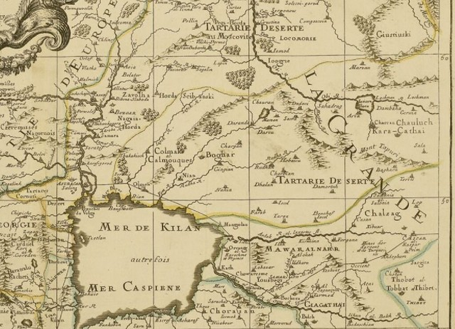 La Grand Tartaie - part of l'Asie - Map by Pierre Duval (c 1679) - Detail I