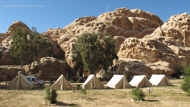 Bedouin tourist camp outside of Petra Jordan