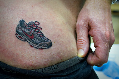 marathon running tattoos