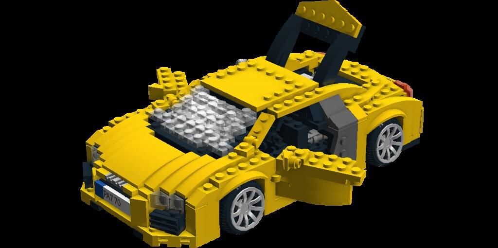 lego911 39 s lego audi r8 modeled in ldd lego digital. Black Bedroom Furniture Sets. Home Design Ideas