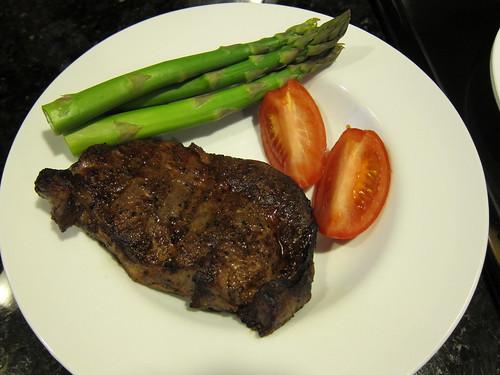 Grass, fed, rib, eye, steak, asparagras IMG_5461