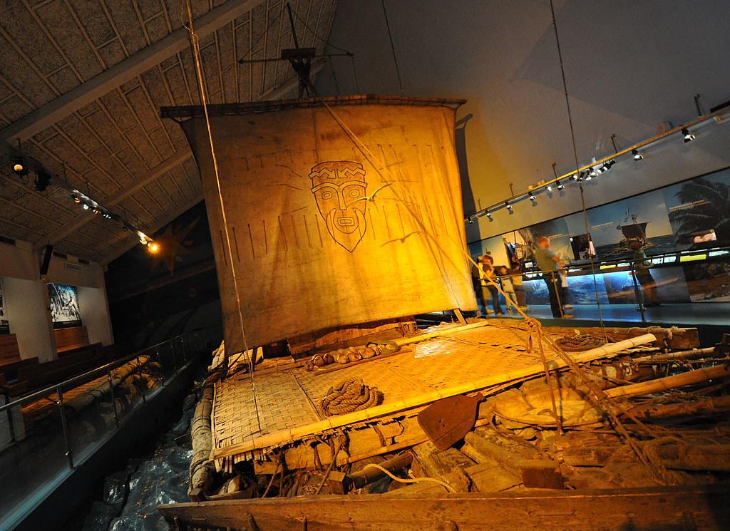 Thor Heyerdahl's Kon-Tiki raft OSLO Norway (КОН-ТИКИ плот Тура Хейердала) Осло,Норвегия